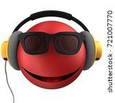3d Illustration Of Red Emoticon ...