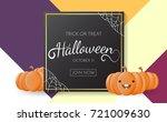 halloween background vector... | Shutterstock .eps vector #721009630