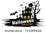 halloween background vector... | Shutterstock .eps vector #721009636