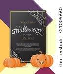 halloween background vector... | Shutterstock .eps vector #721009660