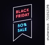 geometric neon vector banner... | Shutterstock .eps vector #721012198
