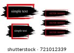 a set of banners in the form of ... | Shutterstock .eps vector #721012339
