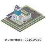 modern isometric hospital... | Shutterstock .eps vector #721019380