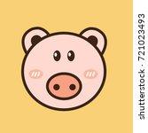 pig   vector logo   icon mascot ...   Shutterstock .eps vector #721023493