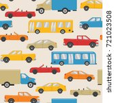 seamless pattern with urban... | Shutterstock . vector #721023508