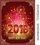 postcard happy new year of 2018 ... | Shutterstock .eps vector #721026310
