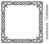celtic pattern  square black... | Shutterstock .eps vector #721026664