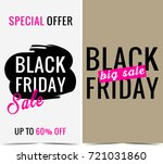 black friday banners  | Shutterstock . vector #721031860