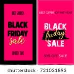 black friday banners    Shutterstock . vector #721031893