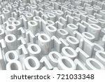 white zero one numbers abstract ... | Shutterstock . vector #721033348