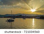Samos Island  Greece  Sunset A...