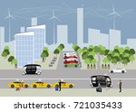 the city of the future concept. ... | Shutterstock .eps vector #721035433