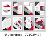 abstract vector layout... | Shutterstock .eps vector #721039474
