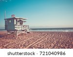 lifeguard cabin on santa monica ...