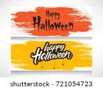 scary text of happy halloween... | Shutterstock .eps vector #721054723