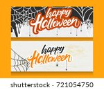 happy halloween header... | Shutterstock .eps vector #721054750