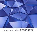 blue abstract background 3d... | Shutterstock . vector #721055194