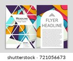 abstract vector layout... | Shutterstock .eps vector #721056673