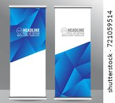 roll up business brochure flyer ... | Shutterstock .eps vector #721059514