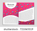 abstract vector layout...   Shutterstock .eps vector #721065319