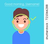 face recognition and mobile... | Shutterstock .eps vector #721066288
