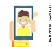 face recognition and mobile... | Shutterstock .eps vector #721066354