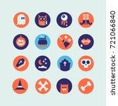 set of halloween icons. vector... | Shutterstock .eps vector #721066840