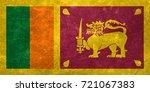 flag of sri lanka | Shutterstock . vector #721067383