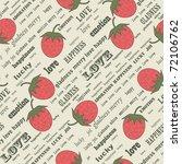 retro valentine background with ... | Shutterstock .eps vector #72106762