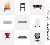 realistic comfortable  wardrobe ...   Shutterstock .eps vector #721068178