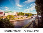 vyborg  russia   july  8  2017  ... | Shutterstock . vector #721068190