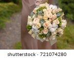 bridal bouquet | Shutterstock . vector #721074280