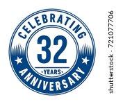 32 years anniversary logo.... | Shutterstock .eps vector #721077706
