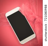 mobile phone with empty black... | Shutterstock . vector #721080988