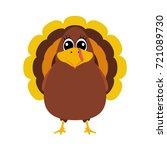 turkey pilgrimin on... | Shutterstock .eps vector #721089730