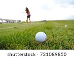 golf grass scenery detail with... | Shutterstock . vector #721089850