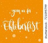 join us for oktoberfest  ... | Shutterstock .eps vector #721095799