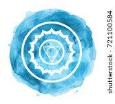 chakra symbol watercolor... | Shutterstock . vector #721100584