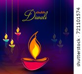 happy diwali illustration ... | Shutterstock .eps vector #721101574