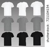 classic t shirt. white  grey...   Shutterstock .eps vector #721104154