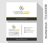 r simple business card with... | Shutterstock .eps vector #721104358