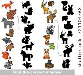 forest animals set to find the... | Shutterstock .eps vector #721104763