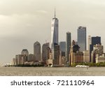 skyscrapers of manhattan at the ... | Shutterstock . vector #721110964