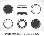 bottle cap. set of vector icons. | Shutterstock .eps vector #721116529