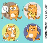 Cartoon Cat Character. Creativ...