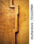 Small photo of abstract background cornice detail on an old ocher wall