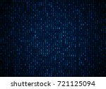 vector binary code dark blue... | Shutterstock .eps vector #721125094