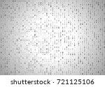 vector binary code white... | Shutterstock .eps vector #721125106