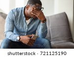feeling exhausted. frustrated... | Shutterstock . vector #721125190