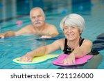 portrait of senior man and... | Shutterstock . vector #721126000